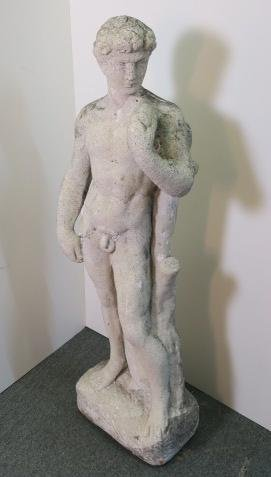 Concrete Garden Statue Of Michelangelo's David: