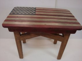Donald Leviner, Folk Art American Flag Table: