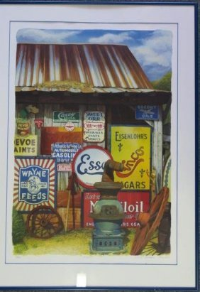 """Nancy Mcintyre """"signs"""" Limited Edition Lithograph:"""