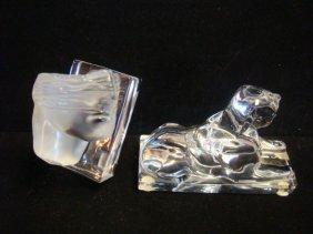 Baccarat & Daum Crystal Paperweights: