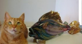 Signed Murano Art Glass Fish: