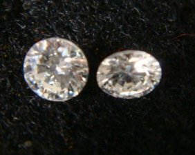 Two Loose 3.8 Mm .20ct Round Diamonds: