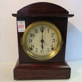 Seth Thomas Adamantine Shelf Clock: