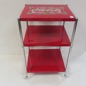 3 Tier Rolling Coca-cola Utility Cart: