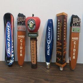 Six Beer Tap Handles: