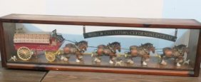 """Budweiser """"clydesdale Champions"""" In Display Case:"""