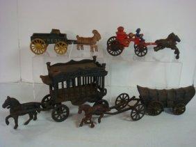 Four Cast Iron Toys: