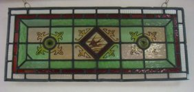 Leaded Stained Glass Panel: