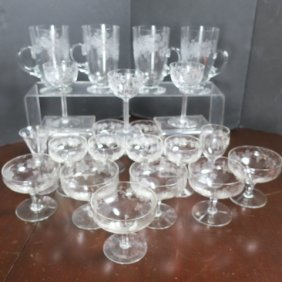 Fostoria New Vintage-grape Glassware, 21 Pieces: