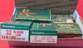 190 Vintage Remington 32 Cal Kleanbore Cartridges: