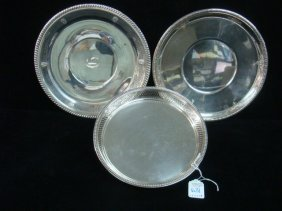 Three Sterling Silver Trays: