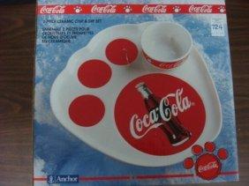 Coca Cola 2 Piece Ceramic De Hours De, Ouvar