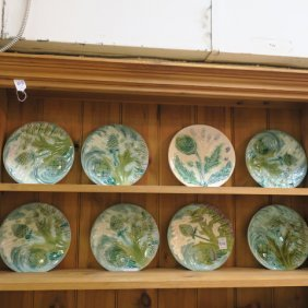 Eight Majolica Plates