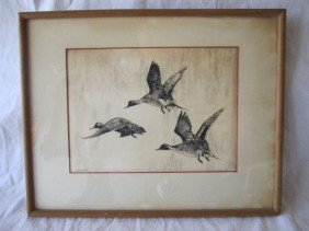 """D70-23  SIGNED """"W.C.D."""" ETCHING"""