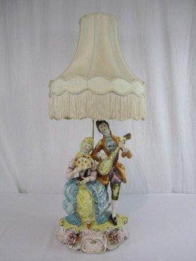 C11-17  PORCELAIN FIGURAL LAMP