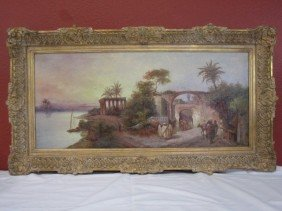 A45-5  LARGE ORIENTALIST PAINTING