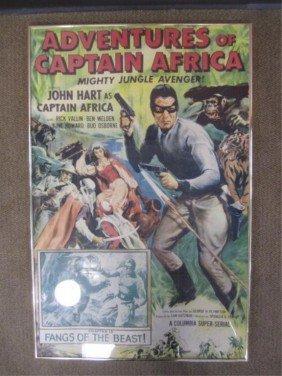 A71-3  ORIGINAL JOHN HART CAPTAIN AFRICA  POSTER