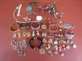 G58-1  BOXED LOT OF COSTUME JEWELRY