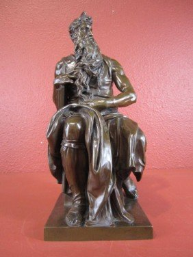A55-1  FRENCH BRONZE MOSES FIGURE