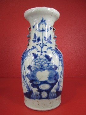 A55-22  CHINESE BLUE & WHITE VASE