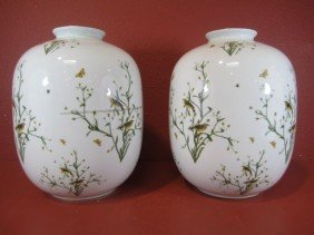 A11-45  PAIR OF ROSENTHAL VASES