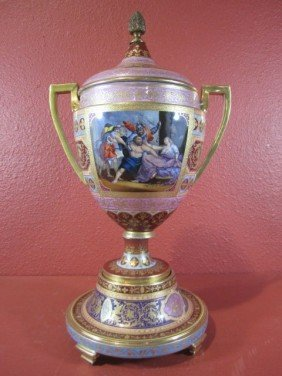 A11-60  ROYAL VIENNA COVERED URN