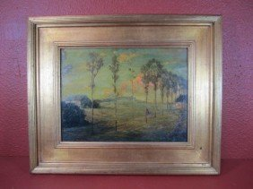 """C15-4  SIGNED """"PAUL DOUGHERTY"""" OIL PAINTING"""