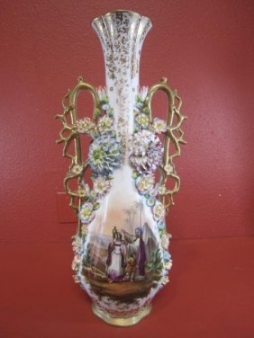 A55-3  OLD PARIS PORCELAIN VASE