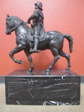 A55-9  SOLDIER ON HORSE BRONZE STATUE