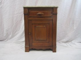 E33-13  MARBLE TOP NIGHT STAND