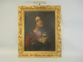 A45-6  LARGE OLD MASTER PAINTING OF WOMAN