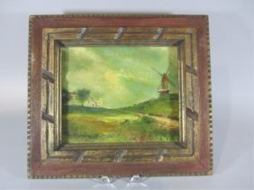 H18-18  WINDMILL OIL ON BOARD