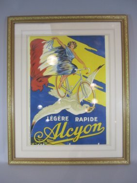 H35-1  LEGERE RAPIDE ALCYON FRENCH POSTER