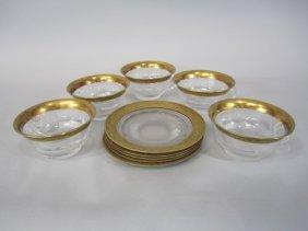 H80-200  SET OF 5 MOSER SPLENDID GOLD SHERBERTS