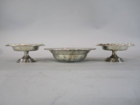H32-13  LOT OF 3 STERLING SILVER BOWLS