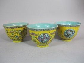 A70-2  SET OF THREE CHINESE BOWLS