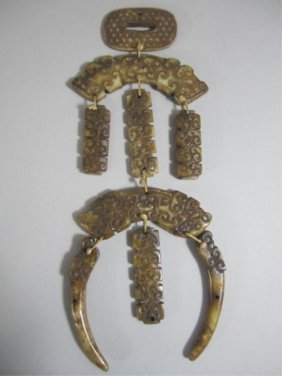 A72-27  CHINESE WHITE JADE MAN'S PENDANT