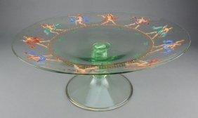 Enameled Venetian Murano Art Glass Centerpiece