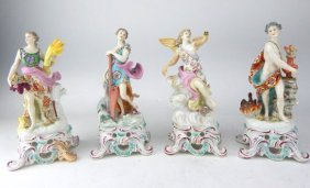 "German Porcelain ""four Season"" Figurines"