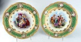 Pair Of Royal Vienna Plates