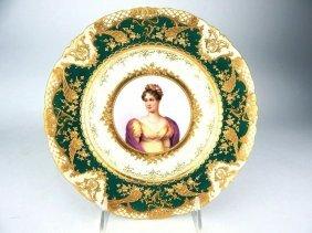 Dresden Porcelain Portrait Plate