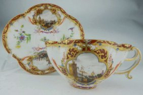 19th Century Augusta Rex Dresden Cup And Saucer