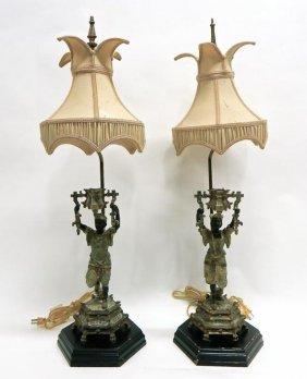 Pair Of Vintage Figural Lamps