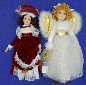 Two Porcelain Heritage Collection Dolls
