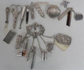 Victorian Miniature Sterling Silver Vanity Items