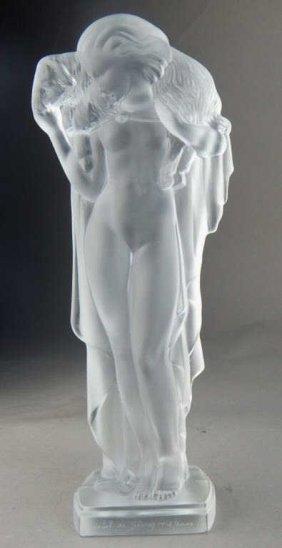 Cristal de Sevres Art Deco Nude Female Figure
