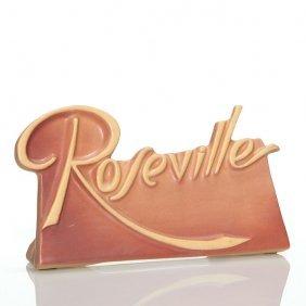 """Roseville Dealer Advertising Sign 4 5/8"""" X 7 3/4"""""""