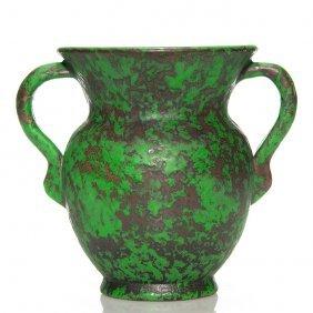 """Weller Coppertone Vase, 2 Handles, 8"""""""