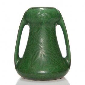 "Weller Matt Vase, Organic Green, 6 3/4"""