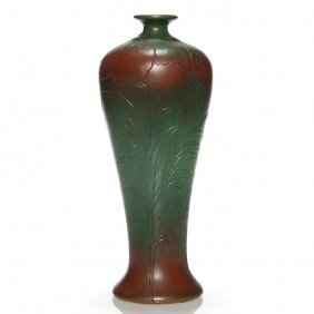 """Clewell Copper Clad Vase, Owens Blank, 11 1/8"""""""